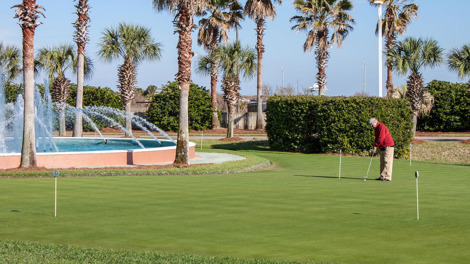 Caribe Resort Fountain Golf